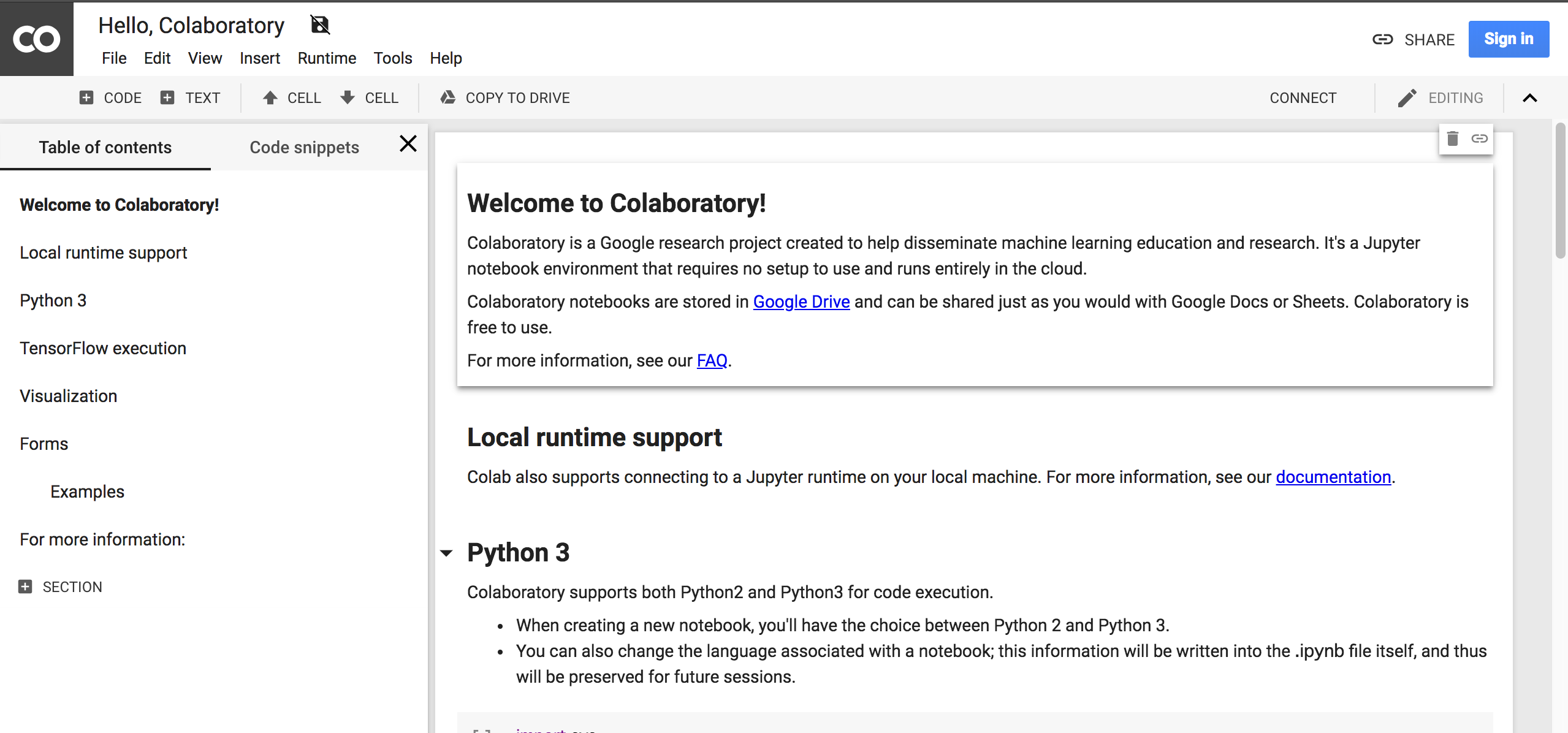 Google Colaboratory is the best tool for machine learning